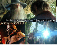 """Blade, Meme, and Shit: the blade  glows blue  when you  See a shit game <p>I know the meme is wrong, but is the format worth anything? via /r/MemeEconomy <a href=""""http://ift.tt/2EVrPnr"""">http://ift.tt/2EVrPnr</a></p>"""