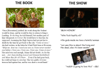 """Fucking, Love, and Reddit: THE BOOK  THE SHOW  """"MUH HONOR""""  tehe fuck loyalty xD  >tfw gods made me love a hateful woman  """"cer-sea this is about the living and  Once Raventree] yielded, his work along the Trident  would be done, and he would be free to return to King's  Landing. To the king, he told himself, but another part of  him whispered, to Cersei. He would have to face her, he  upposed. Assuming the High Septon had not put her to  death by the time he got back to the city. """"Come at once,""""  she had written, in the letter he'd had Peck burn at Riverrun  """"Help me. Save me. I need you now as I have never needed  you before. I love you. I love you. I love you. Come at once.""""  Her need was real enough, Jaime did not doubt. As for the  rest... she's been fucking Lancel and Osmund Kettleblack  and Moon Boy for all I know... Even if he had gone back,  he could not hope to save her. She was guilty of every  treason laid against her, and he was short a sword hand.'  """"  """"  the dead, also it's been weeks""""  """"reddit is going to love this"""" - d&d"""