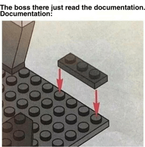 Reddit, Job, and Boss: The boss there just read the documentation.  Documentation: I hate my job