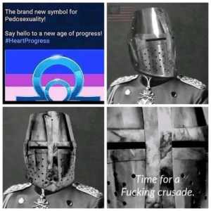 Fucking, Hello, and Brand New: The brand new symbol for  Pedosexuality!  Say hello to a new age of progress!  #HeartProgress  ime for  Fucking crusade.