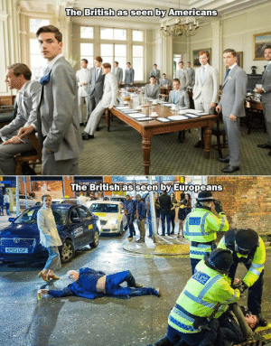 Police, True, and Metro: The British as seen by Americans  :GRES  The British as seen by Europeans  ww w  POLICE  METRO  222222  KP03 USF  OLICE Its 100% true