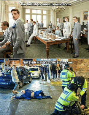 Omg, Tumblr, and Blog: The Britishas seen by Americans  he British as seen by Europeans  КРОЗ USF omg-images:  Accurate!