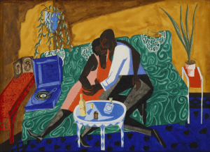 the-bureau-of-propaganda:The Lovers - Jacob Lawrence: the-bureau-of-propaganda:The Lovers - Jacob Lawrence