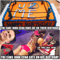 Excellent The Cake John Cena Fans Eaton Their Birthday Who Likes Sasha The Personalised Birthday Cards Beptaeletsinfo