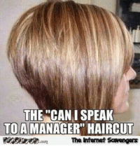 """Can I Speak To: THE """"CAN I SPEAK  TO A MANAGER"""" HAIRCUT  The ntemet Scavengers"""