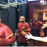 Cavs, Finals, and Game: The Cavs coming out for Game 1 of the Finals 😂