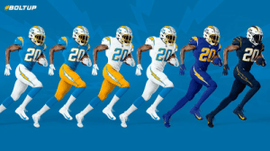 The Chargers now have a uniform combination for every one of their fans https://t.co/yn9Z42PeVw: The Chargers now have a uniform combination for every one of their fans https://t.co/yn9Z42PeVw