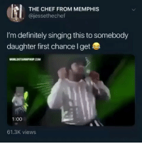 On winter break until next semester, what a time to be alive bro.. I'm about to be posting hella @larnite • ➫➫➫ Follow @Staggering for more funny posts daily!: THE CHEF FROM MEMPHIS  , @jessethechef  I'm definitely singing this to somebody  daughter first chance l get  1:00  61.3K views On winter break until next semester, what a time to be alive bro.. I'm about to be posting hella @larnite • ➫➫➫ Follow @Staggering for more funny posts daily!