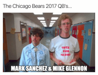 Chicago, Chicago Bears, and Fake: The Chicago Bears 2017 QB's.  VOTE  FOR  PEDRO  MARK SANCHEZ& MIKE GLENNON 😂😂😂  LIKE Our Page Fake SportsCenter!  Credit - NFL Memes