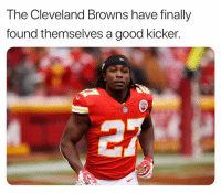 Cleveland Browns, Nfl, and Browns: The Cleveland Browns have finally  found themselves a good kicker.