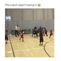 Little ones are up to no good: The coach wasn't having it Little ones are up to no good