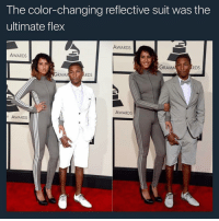 Flexing, Instagram, and Memes: The color-changing reflective suit was the  ultimate flex  AWARDS  AWARDS  GRAM  RDS  RDS  RAM  AWARDS  Y AWARDS They changed the game galdembanter dt @itsshenell uberCode:SHENG6 www.instagram.com-isawitandii