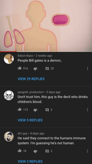 The comment section on every bill gates video is disgusting: The comment section on every bill gates video is disgusting