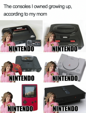 Bored, Growing Up, and Memes: The consoles I owned growing up,  according to my mom  NINTENDO NINTENDO  NINTENDO NINTENDO  NINTENDONINTENDO Nostalgic-90s-Memes | Bored Panda