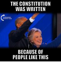 God, Memes, and Constitution: THE CONSTITUTION  WAS WRITTEN  TURNING  POINT USA  BECAUSE OF  PEOPLE LIKE THIS Thank God We Have The Constitution... #BigGovSucks