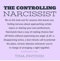 The CONTROLLING NARCISSIST Be on the Look-Out for Anyone Who Leaves