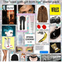 "new age goth girl 🥀: The ""cool goth girl from nyc"" starter pack  CHINA CHALET  Ca ionalmemegirlz  apixietang  UNDERGROUND  &NICO  OPENING  CEREMONY  EUR  Est. 2002  don't get your last post  on instagram. Are you  sure you want people to  see you like that?rm  worried. Love you Xox new age goth girl 🥀"