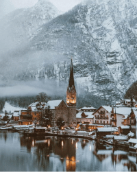 Austria, Town, and Hallstatt: The cozy town of Hallstatt, Austria