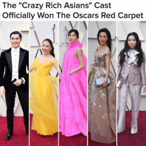 "for all the news you need to know, including the highlights from last night's Academy Awards, follow 👉@buzzfeednews 👀: The ""Crazy Rich Asians"" Cast  Officially Won The Oscars Red Carpet for all the news you need to know, including the highlights from last night's Academy Awards, follow 👉@buzzfeednews 👀"