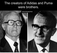 Adidaes: The creators of Adidas and Puma  were brothers.  Some Amazing Facts