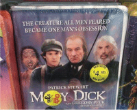 Dank, 🤖, and Creature: THE CREATURE ALL MEN FEARED  BECAME ONE MAN'S OBSESSION  $4.95  PATRICK STEWART  MSIS Y DICK  AND GREGORY PECK  FATHER The Creature All Men Feared http://bit.ly/2jcl2gH