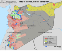 The Crusade  the Civil Meme War  Memes  Allegedly withdrew  Map of me irl from these areas but their forces  remained on the fronlines  i A Hasakah  ar-Raggan  Tartus  @Dawoud Mattar  @DawandMattar  @Daw  Mattar  Control  The Spookerment  Damascus  The Anti-Spook Rebels  The Bears  The Crusades  GooseBumps Caliphate  Communism/  /other extremist  Depression  memes me🐻irl