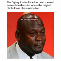 This is the actual photo from 2008 😱 • • FOLLOW @LITHOOPERS FOR MORE 🔥: The Crying Jordan Face has been memed  so much to the point where the original  photo looks like a meme too.  IG: OLITHOOPERS This is the actual photo from 2008 😱 • • FOLLOW @LITHOOPERS FOR MORE 🔥