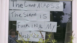 Streets, Cunt, and Her: The Cunt ACROSS  The StReets 5 cops told her to take it down. She said no.