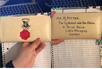 Cute, Friends, and Harry Potter: The Cupboard wda the StaiRS  4. PRivet DRive  Little WhiNgiNg  SURREY Meet the Hogwarts Letter Zip Around Wallet. Isn't it cute? 😍 Want one? Visit the link in our bio to get it today! (30% OFF + FREE SHIPPING) Every Muggle can now get their own Hogwarts letter in the shape of a wallet! This exclusive wallet was designed to resemble the exact letter sent to Harry Potter in The Sorcerer's Stone. (link in our bio) Tag your Potterhead friends who would want one. 😍 hogwarts wallet harrypotter hpfan potterhead muggle purse potterheadforever harrypotterforever harrypotterfan harrypotterworld harrypotterstudios hermoine ronweasley potterworld harrypotterfan harrypotterworld hogwartsexpress