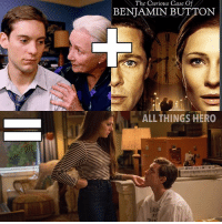 Bad, Memes, and Benjamin Button: The Curious Case Of  BENJAMIN BUTTON  ALL THINGS HERO  AY I'm usually pretty bad at math but I think this equation makes sense. benjaminbutton spiderman geekmath spidermanhomecoming