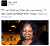 """Ios, Cutting, and Whoopy: The Cut  CUT  @The Cut  Whoopi Goldberg's thoughts on marriage: """"I  don't want somebody in my house  thecut.io/  2bSCmET"""