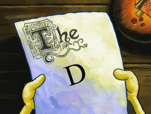 the d: The  D