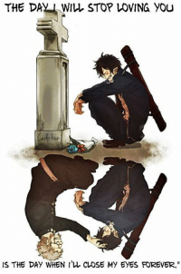 "I miss you grandfather..  Anime: blue exorcist   Kyou-chan as Carlo Kun: THE DAN WIL STOP LOVING YOU  IS THE DAY WHEN I L CLOSE My EyES FOREVER."" I miss you grandfather..  Anime: blue exorcist   Kyou-chan as Carlo Kun"