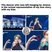 "Which song do you like more ""LOVE ME, LOVE ME"" or ""ISLAND""?  - Yoongiology0903: The dancer who was left hanging by Jinwoo  is the actual representation of my love story  with my bias  01연구소  MCC  ME LOVE ME  ER Which song do you like more ""LOVE ME, LOVE ME"" or ""ISLAND""?  - Yoongiology0903"