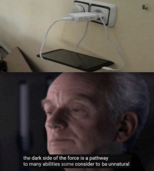 It's treason then: the dark side of the force is a pathway  to many abilities some consider to be unnatural It's treason then