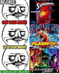 Not a fan that Flashpoint is the first Flash movie, but I am excited it's happening. Looks like the Green Lantern movie will start off with Blackest Night😂⚫️ Via: @comicbookhq flash theflash flashpoint barryallen ezramiller batmanvsuperman deathofsuperman manofsteel superman clarkkent henrycavill justiceleague greenlantern blackestnight haljordan zacksnyder dccomics flezra batman: THE  DE  DCIEXEC  UPERMAN  @comicBo0kHQ  2ND DCEU MOVIE  HPOINT  IST FLASH MOVIE  ST GREEN LANTERN MOVIE Not a fan that Flashpoint is the first Flash movie, but I am excited it's happening. Looks like the Green Lantern movie will start off with Blackest Night😂⚫️ Via: @comicbookhq flash theflash flashpoint barryallen ezramiller batmanvsuperman deathofsuperman manofsteel superman clarkkent henrycavill justiceleague greenlantern blackestnight haljordan zacksnyder dccomics flezra batman