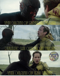 Batman, Click, and Lol: THE DEATH OF REVE  5 HLASH  RUMMED ME OUT ORE THA  THE DEATH OF IRIS Read this before commenting lol. Iris West's death was really sad. REALLY SAD. I may have teared up a little. Plus that video . . . heartbreaking. This meme is a joke and I don't think she's even dead. Everyone loved Reverse Flash though right?! Have a great day guys! . . . 🚨be sure to CLICK THE LINK IN MY BIO to listen to our latest podcast episode. We'll be recording a new one tomorrow if you want to send in fan questions🚨 . . . barryallen theflash flash reverseflash blackflash savitar hunterzolomon futureflash kidflash wallywest keiynanlonsdale grantgustin flashpoint greenarrow arrow stephenamell greenlantern supergirl melissabenoist dctv dceu dccomics dcrebirth batman superman wonderwoman aquaman justiceleague darkseid batgirl