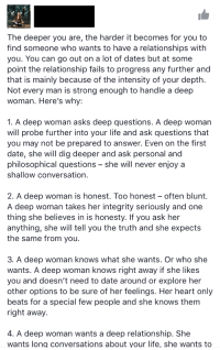 deep relationship questions to ask a girl