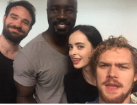 Memes, Selfie, and United: THE DEFENDERS united taking a selfie! No big deal.  (Andrew Gifford)