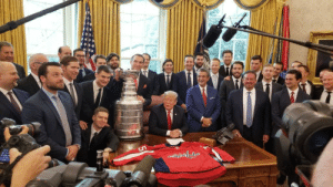 White House, House, and Today: The defending Stanley Cup Champion Washington Capitals visited the White House today!