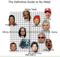 Trash, White, and Corny: The Definitive Guide to Nu Metal  White Trash  Pud  Whiny  Corny  ber  re White Pony  Mall Rat-y