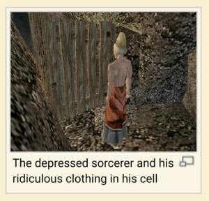 Tumblr, Blog, and Http: The depressed sorcerer and his  ridiculous clothing in his cell dudeholdmybeer:me trying on new outfits in my room