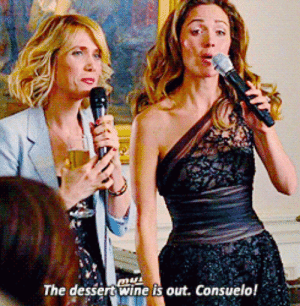 the dessert wine is out consuelo bridesmaids gif on gifer by