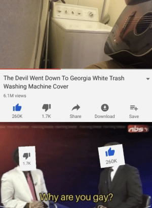 Yep: The Devil Went Down To Georgia White Trash  Washing Machine Cover  6.1M views  260K  Download  1.7K  Share  Save  abso  260K  1.7K  Why are you gay? Yep