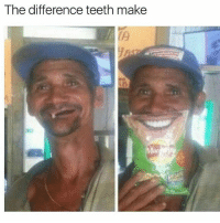 Memes, 🤖, and Got: The difference teeth make He got 1 toof