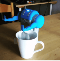 The Dipper. Somewhat offensive tea dipping robot.: The Dipper. Somewhat offensive tea dipping robot.