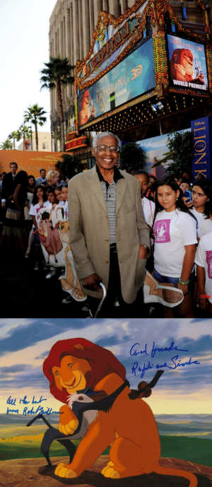 Disney, The Voice, and Tumblr: the-disney-elite: R.I.P. Robert Guillaume     Robert Guillaume, the voice of Rafiki in The Lion King, is dead at 89.