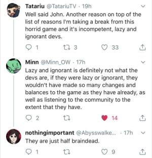 The disrespect of the DbD devs is uncalled for. Devs make mistakes and it's hard to balance games. I don't agree with the ruin change but it's going to the PTB, so it's not official! Ffs name calling and bullying is not constructive criticism: The disrespect of the DbD devs is uncalled for. Devs make mistakes and it's hard to balance games. I don't agree with the ruin change but it's going to the PTB, so it's not official! Ffs name calling and bullying is not constructive criticism