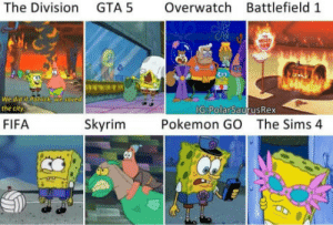 Fifa, Pokemon, and Skyrim: The Division GTA 5 Overwatch Battlefield 1  the city  FIFA  Skyrim  Pokemon GO  The Sims 4  C0 Whats your favorite?