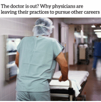 """America, Apple, and Black Lives Matter: The doctor is out? Why physicians are  leaving their practices to pursue other careers @Regran_ed from @reseaudocteur - """"After 20 years, I quit medicine and none of my colleagues were surprised. In fact, they all said they wish they could do the same,"""" said one doctor So why is there a waning interest to grow a career as a physician? A recent report from the Association of American Medical Colleges projected a shortage of between 42,600 and 121,300 physicians by 2030, up from its 2017 projected shortage of 40,800 to 104,900 doctors. There appear to be two main factors driving this anticipated doctor drought, as it were: Firstly, young people are becoming less interested in pursuing medical careers with the rise of STEM jobs, a shift that Craig Fowler, regional VP of The Medicus Firm, a national physician search and consulting agency based in Dallas, has noticed. """"There are definitely fewer people going to [med school] and more going into careers like engineering,"""" Fowler told NBC News. Fowler also speaks to the desire among millennials to be in hip, urban locations — a luxury you likely won't get when you're fresh out of medical school and in need of a residency. """"This is why places in middle America hire firms like ours,"""" Fowler said. """"They're having a harder time attracting people."""" But perhaps the more interesting story lies not with those deciding to eschew medical degrees; it's with the people who went through all that training, who became doctors — and then decided to opt for another path This drastic career change can be a result of new med school grads being unable to find a residency within a reasonable period of time. """"Graduating med school doesn't mean you'll get into a residency,"""" said Fowler. """"There aren't enough residency slots for medical grads. So you have that population of people who have an MD but didn't practice for that reason. There is this bottleneck effect By Nicole Spector: Full article: https:-apple.n"""